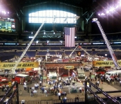Lucas Oil Stadium exhibits